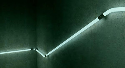 Cool LED Staircase Handrail Concept Design
