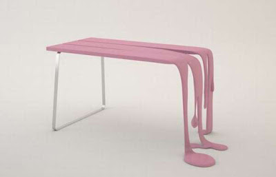 Smoothie Table Design Like Floating Paint