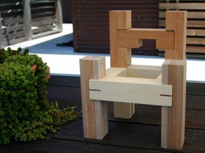 Build Kids Furniture from Wooden Blocks