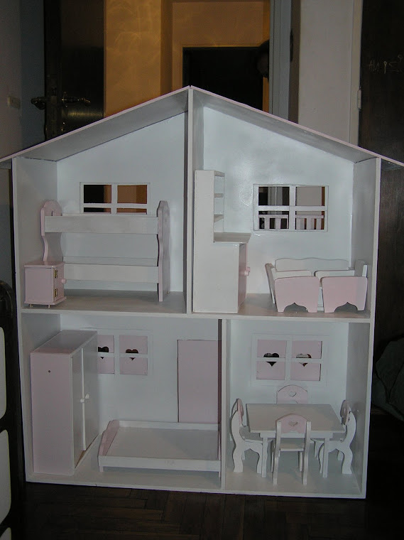 CASITA BARBIE CON MUEBLES