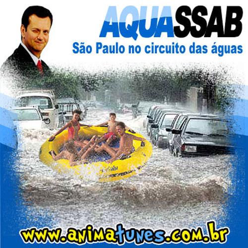 Humor nas enchentes de São Paulo