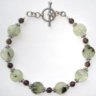 Prehnite & Smokey Quartz Bracelet