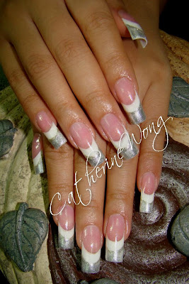 silver nails design - silver nails design ideas