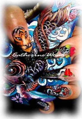 Nailqueen ed hardy tattoo nails ii ed hardy tattoo nails ii prinsesfo Choice Image