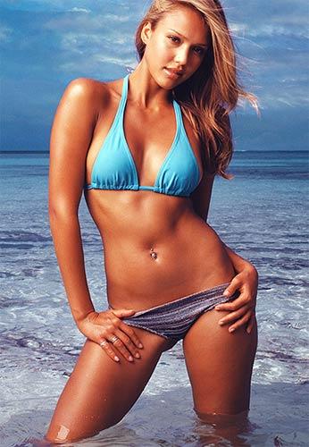 Hollywood Actress Jessica Alba in Bikini