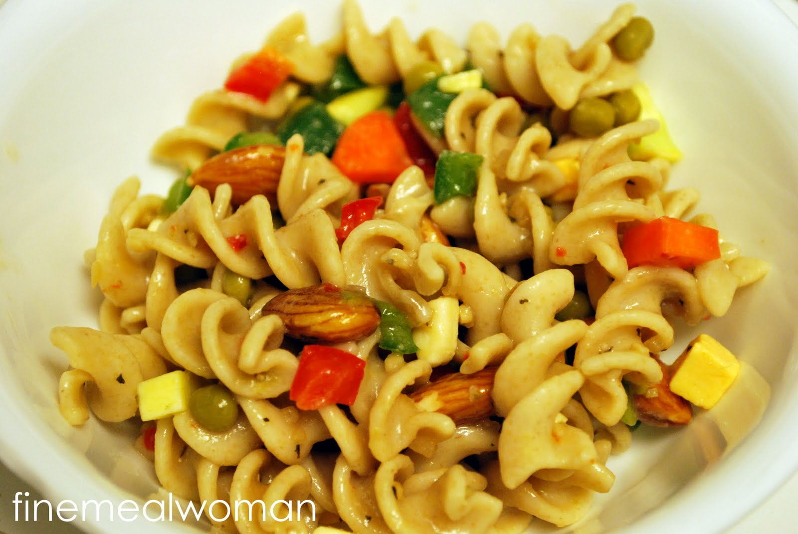 Fine Meal Woman Picnic Pasta Salad