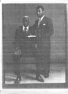 A young Mauricelm-Lei Millere with his grandfather-Pastor Reverend Samuel Rogers.