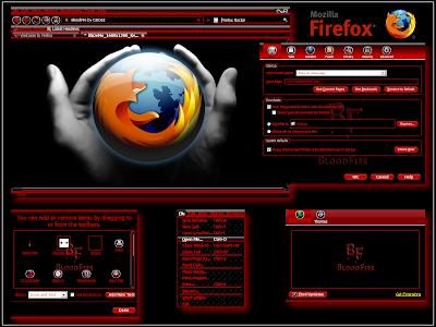 get fire red firefox theme