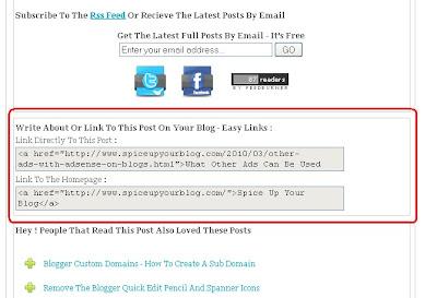 Create Easy Links Below Blog Posts