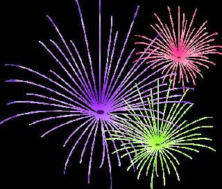 fireworks effect blogger