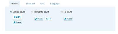 tweet button for blogger