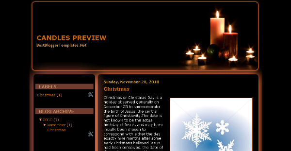 Best christmas season Blogger Templates