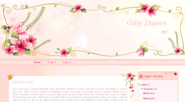 Best Girly Blogger Templates
