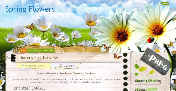 Best Spring Blogger Templates