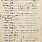 Naskah tanda tangan sembilan simfoni Oleh Wolfgang Amadeus Mozart