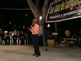 EL POETA Y DECLAMADOR BORIS ARRUNÁTEGUI, PRESENTE EN EL 44º ANIVERSARIO DE SAN JUAN DE LURIGANCHO.