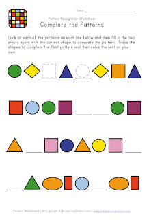 free math patterns worksheets for prek, k-8 schools, free math