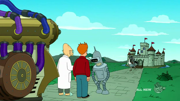 futurama time machine