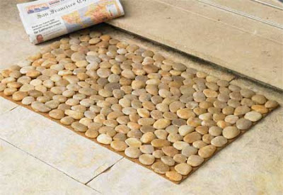 Fab home decor find river stone mats pinaywife 39 s for River stone doormat