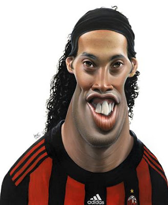 caricaturas de futbolistas ronaldinho gordo en caricatura