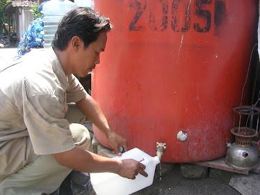 Pemeriksaan air (Uji petik air di wilayah Kep.Seribu )