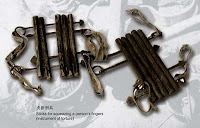 "A Han Chinese torture instrument, the ""Finger Press"", now labelled a Tibetan torture tool by CCP propaganda."