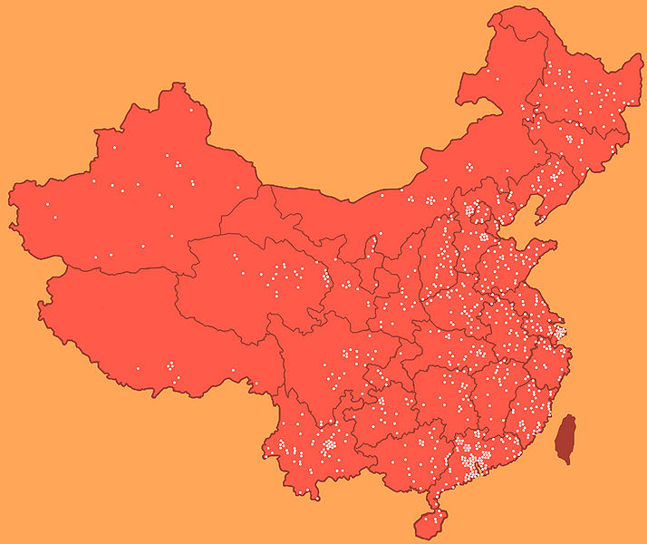 Laogai map in china Laltra faccia della Cina, lavori forzati e contraffazione ai danni della nostra economia