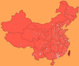 Map of known Laogai locations in China