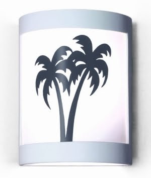 palm tree wall sconce