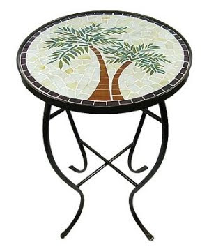 palm tree accent table