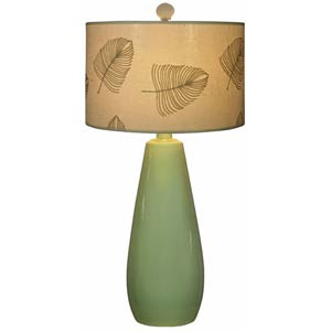 elegant palm leaf table lamp