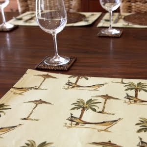 palm tree place mats