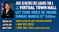 Join Senator Eric Adams Tonight !!