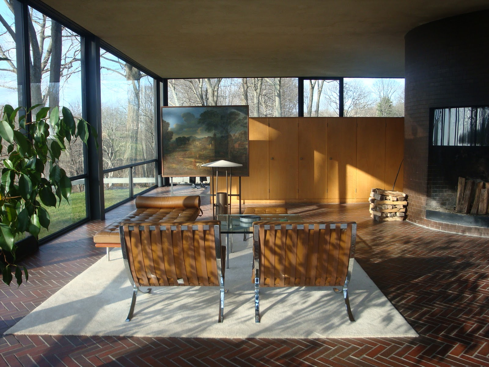 "Johnson House, ""The Glass House"" - Philip Johnson - Great"