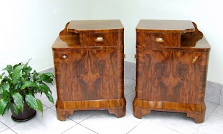 beautifully and proffesionally restored and repolished ready to go straight into your home these are period 1920s to 1930s art deco cabinets art deco furniture cabinet