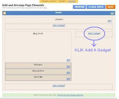 cara membuat widget blog