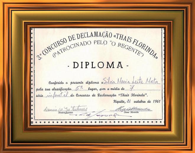 1961 - 3º Concurso de Declamação Thais Florinda