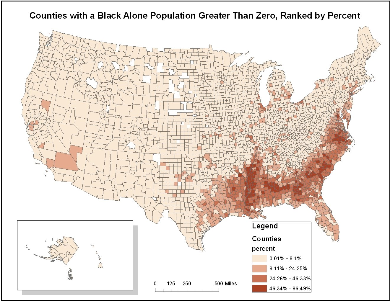 above all u s counties are ranked based on the concentration of self reported ethnicity counties that reflect darker shading have higher concentrations
