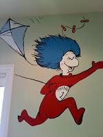 Go Girl Design Murals Custom Artwork Dr Seuss Bedroom