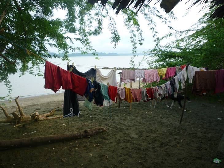 Clothes dryer on the beach