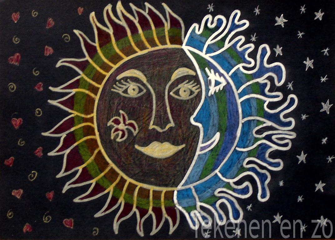 Tekenen en zo warme zon koele maan - Koele kleuren warme kleuren ...