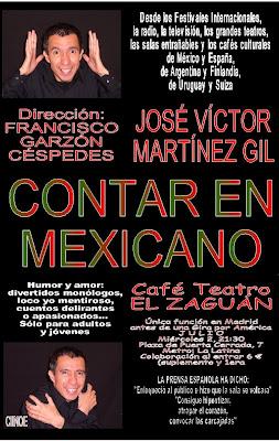 Cartel de Contar en Mexicano de Jose Victor Martinez Gil