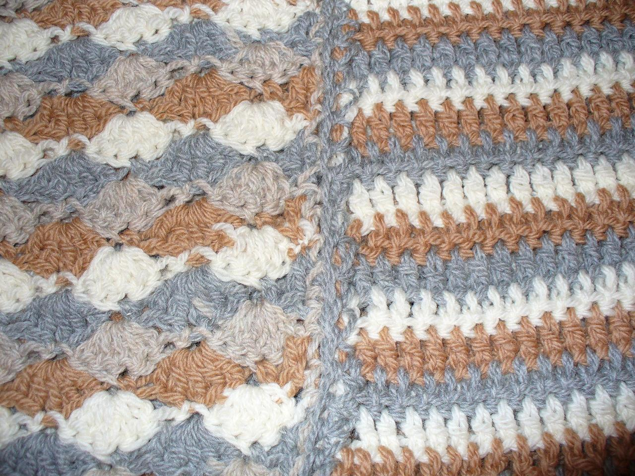 Crochet Vs Knit Scarf : Knitting VS Crochet: My Nephews Crochet Blanket