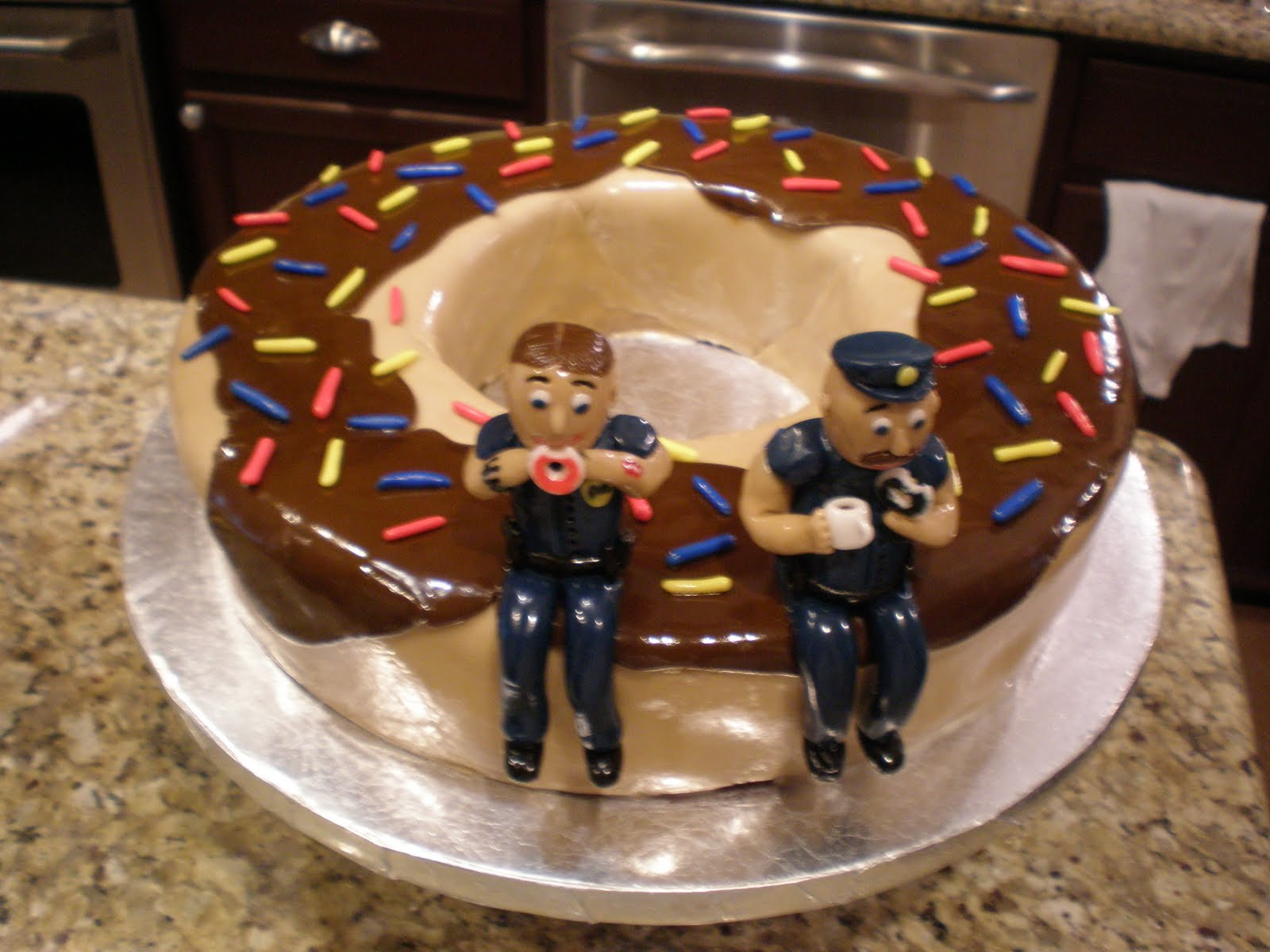 Birthday Cake Ideas For Police Chief