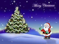 Cute christmas santa wallpaper tree