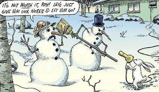funny christmas cartoon snowman