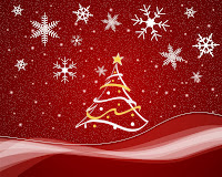 christmas tree wallpaper red