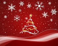 christmas tree wallpaper red