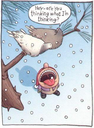 Naughty Birds Christmas Cartoon