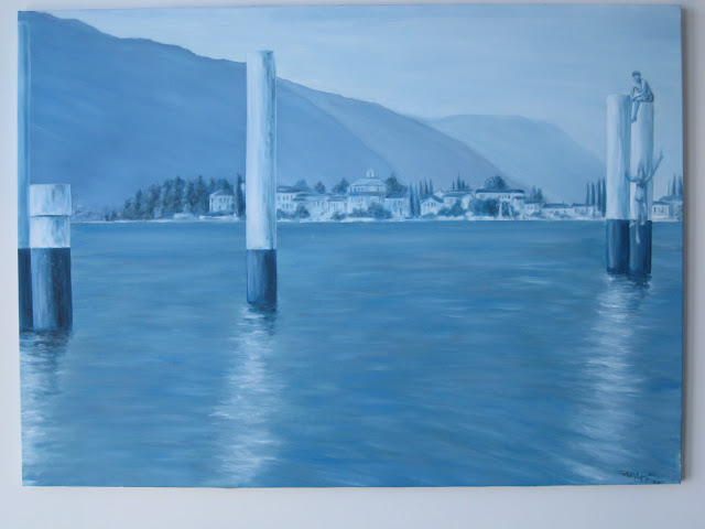 COMO LAKE   OIL ON CANVAS   36'' x 50''